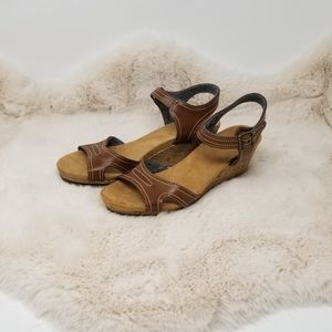 Dr. Scholl's Faux Leather Cork Wedges 9